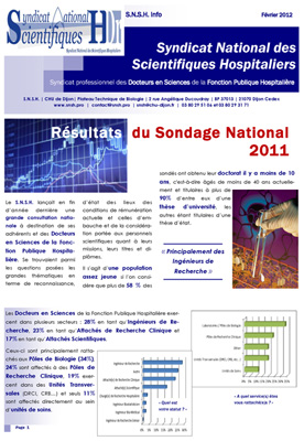 R sultats sondage 2012 syndicat national des - Grille indiciaire des ingenieurs territoriaux ...