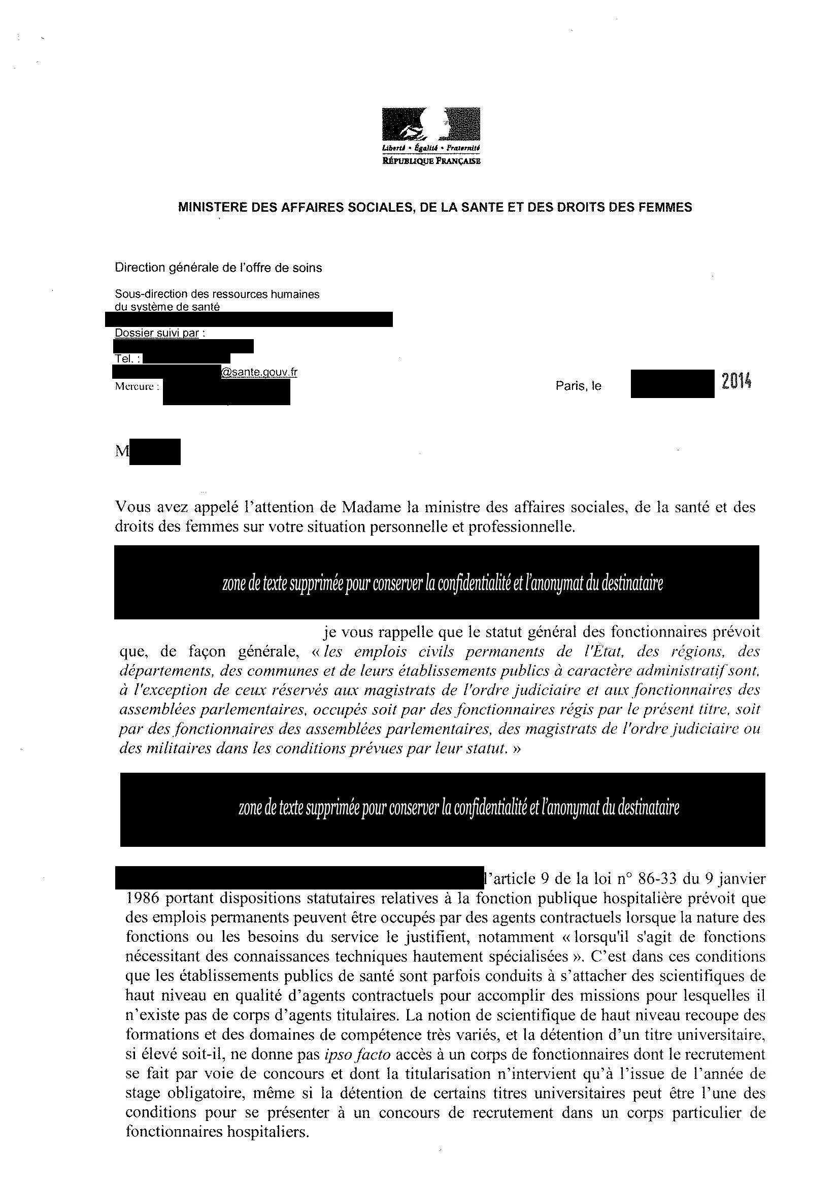 lettre_ministere santé