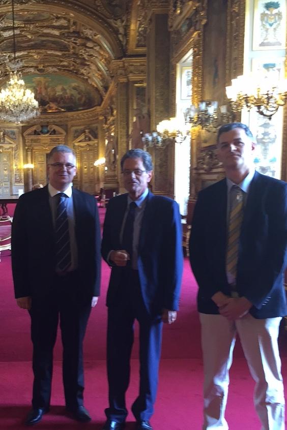 Audition au Sénat par la Commission des Affaires Sociales Dr Emmanuel Florentin (SNSH), Dr Alain Milon (Sénateur), Dr Gaël Belliot (SNSH)