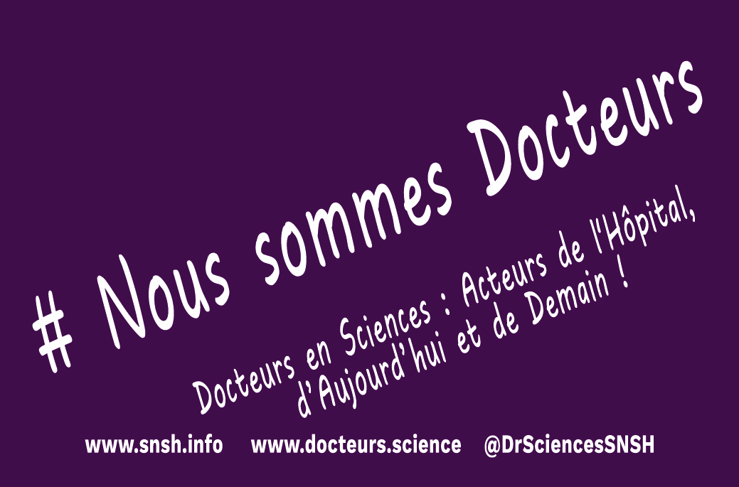 Le SNSH Lance Sous Forme De Cartes Visites Sa Nouvelle Campagne Sensibilisation Lutilisation Du Titre Docteur