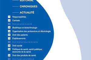 Le Dernier Numero De La Revue Droit Et Sante N85 Qui Vient Paraitre Consacre Sous Plume Du Docteur Jean Louis ROMANENS En