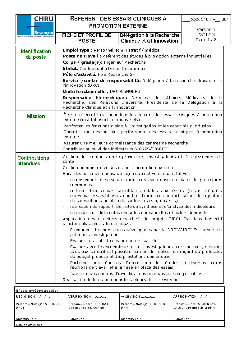 2014 02 14 BESANCON Fiche de poste de Référent essais cliniques à promotion externe - GIRCI E_Page_1